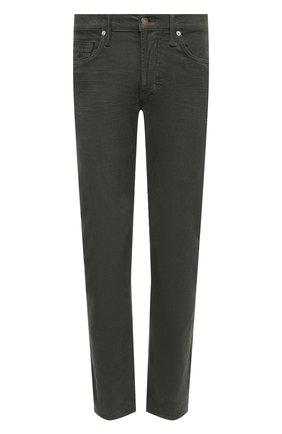 Мужские хлопковые брюки TOM FORD хаки цвета, арт. BWJ39/TFD002 | Фото 1
