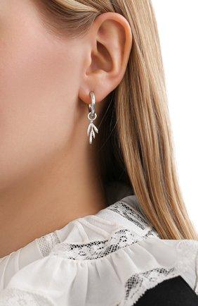 Женские серьги lera COPINE JEWELRY серебряного цвета, арт. LERASLVR | Фото 2