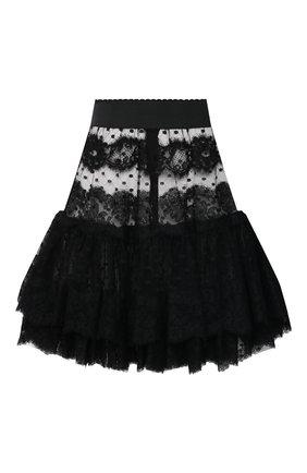 Женская юбка DOLCE & GABBANA черного цвета, арт. J4040T/FLMJT | Фото 1