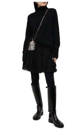Женская юбка DOLCE & GABBANA черного цвета, арт. J4040T/FLMJT | Фото 2
