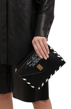 Женская сумка BALMAIN черно-белого цвета, арт. VN1S624/LVP0 | Фото 2