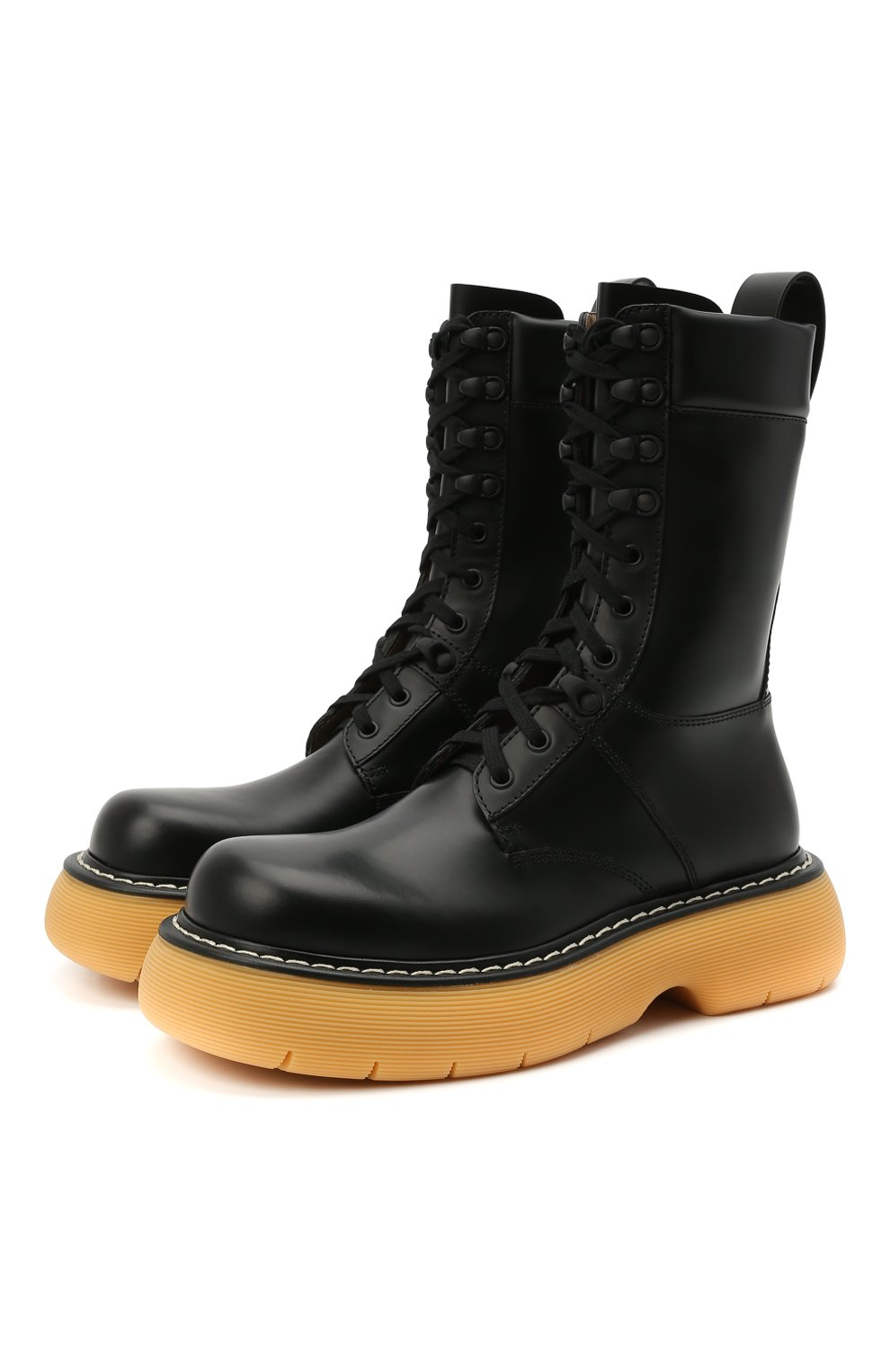 Женские кожаные ботинки BOTTEGA VENETA черного цвета, арт. 651411/V00H0 | Фото 1