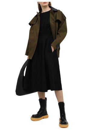 Женские кожаные ботинки BOTTEGA VENETA черного цвета, арт. 651411/V00H0 | Фото 2