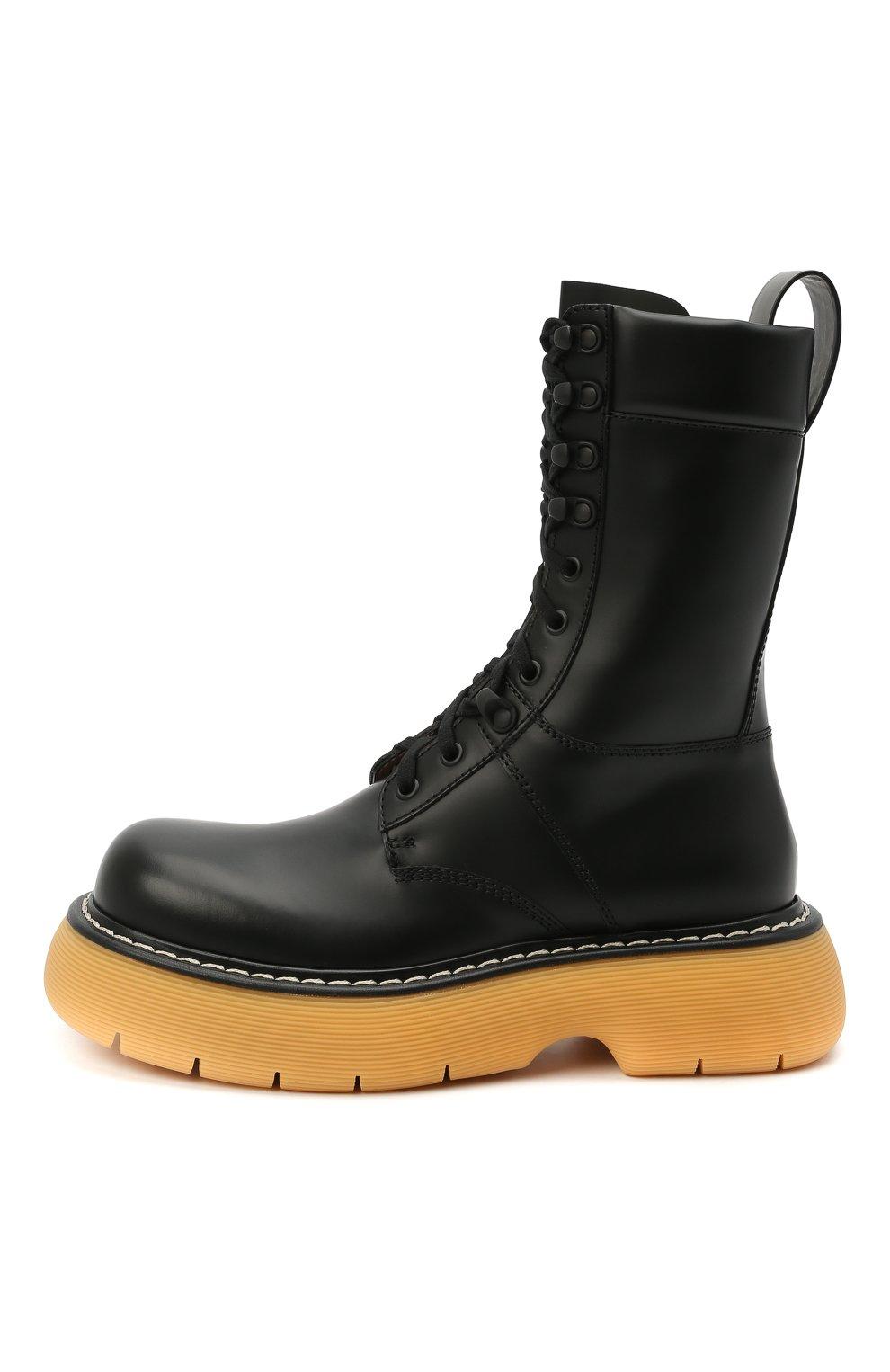 Женские кожаные ботинки BOTTEGA VENETA черного цвета, арт. 651411/V00H0 | Фото 3