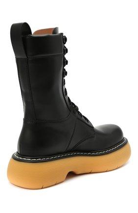 Женские кожаные ботинки BOTTEGA VENETA черного цвета, арт. 651411/V00H0 | Фото 4