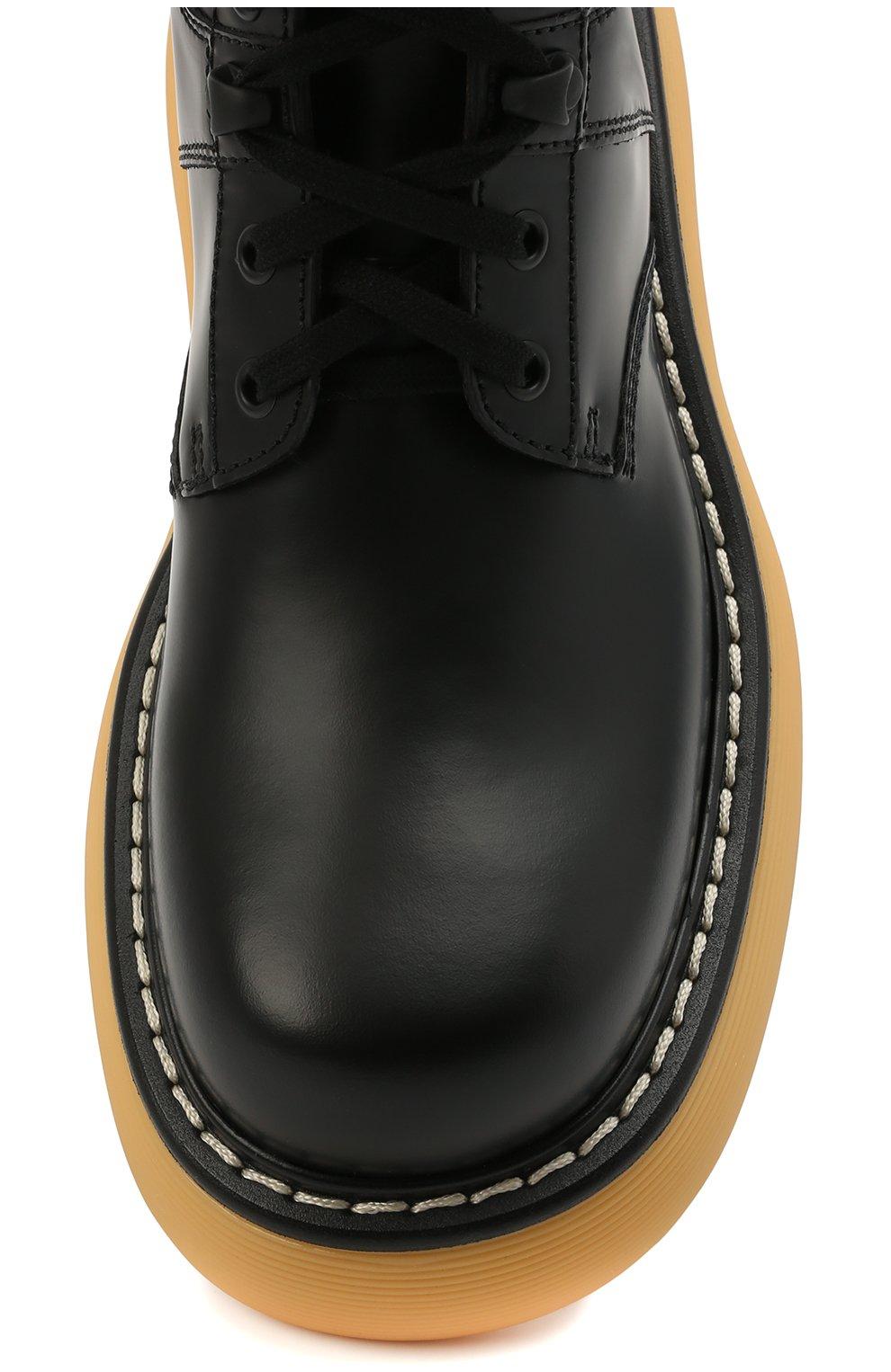 Женские кожаные ботинки BOTTEGA VENETA черного цвета, арт. 651411/V00H0 | Фото 5