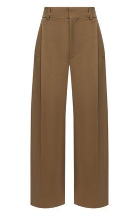 Женские шерстяные брюки CHLOÉ бежевого цвета, арт. CHC21SPA14062 | Фото 1
