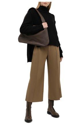 Женские шерстяные брюки CHLOÉ бежевого цвета, арт. CHC21SPA14062 | Фото 2