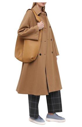 Женские кожаные кеды SANTONI голубого цвета, арт. WBCD60780BARCMEYZ21 | Фото 2