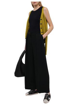 Женские комбинированные кеды superstar GOLDEN GOOSE DELUXE BRAND черного цвета, арт. GWF00102.F000286   Фото 2
