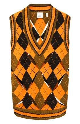 Женский жилет BURBERRY оранжевого цвета, арт. 8037432 | Фото 1
