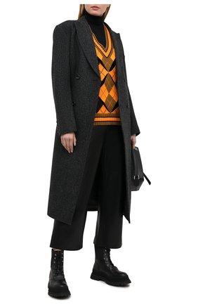 Женский жилет BURBERRY оранжевого цвета, арт. 8037432 | Фото 2