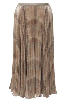 Женская плиссированная юбка POLO RALPH LAUREN кремвого цвета, арт. 211827662 | Фото 1