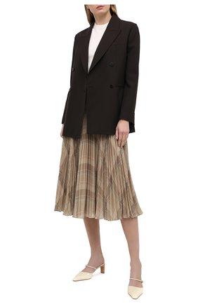 Женская плиссированная юбка POLO RALPH LAUREN кремвого цвета, арт. 211827662 | Фото 2