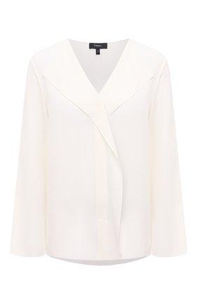 Женская шелковая блузка THEORY кремвого цвета, арт. K1102508 | Фото 1