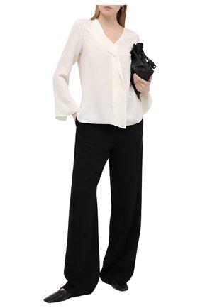Женская шелковая блузка THEORY кремвого цвета, арт. K1102508 | Фото 2