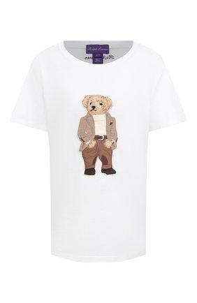 Женская хлопковая футболка RALPH LAUREN белого цвета, арт. 293829127   Фото 1