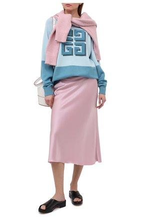 Женский кашемировый пуловер GIVENCHY голубого цвета, арт. BW908N4Z8W | Фото 2