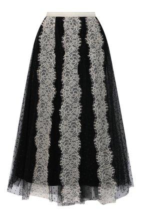 Женская юбка REDVALENTINO черно-белого цвета, арт. VR3RA01H/5P1 | Фото 1
