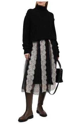 Женская юбка REDVALENTINO черно-белого цвета, арт. VR3RA01H/5P1 | Фото 2