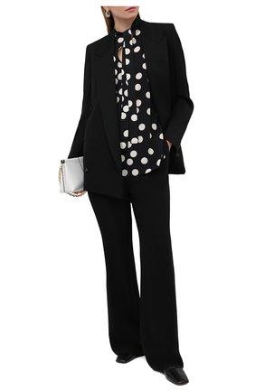 Женская шелковая блузка VALENTINO черно-белого цвета, арт. VB3AE5G765N | Фото 2