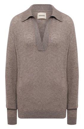 Женский кашемировый свитер KHAITE бежевого цвета, арт. 8172605/J0 | Фото 1