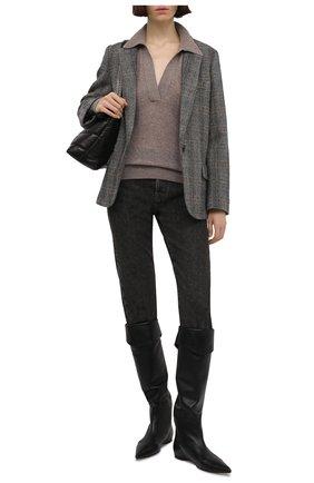 Женский кашемировый свитер KHAITE бежевого цвета, арт. 8172605/J0 | Фото 2