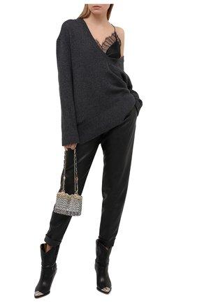 Женские брюки из вискозы PHILOSOPHY DI LORENZO SERAFINI черного цвета, арт. V0303/740 | Фото 2