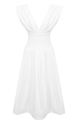 Женское хлопковое платье PHILOSOPHY DI LORENZO SERAFINI белого цвета, арт. A0440/744 | Фото 1