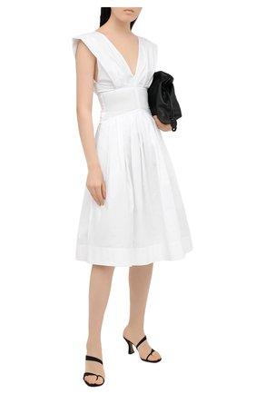 Женское хлопковое платье PHILOSOPHY DI LORENZO SERAFINI белого цвета, арт. A0440/744 | Фото 2