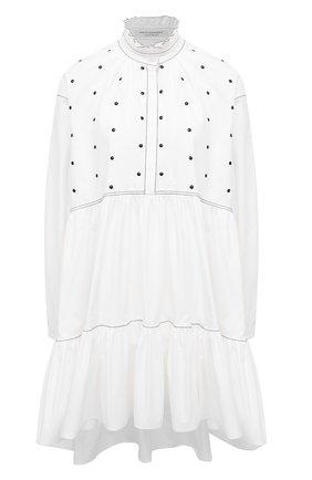 Женское хлопковое платье PHILOSOPHY DI LORENZO SERAFINI белого цвета, арт. A0439/744 | Фото 1