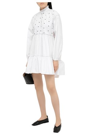 Женское хлопковое платье PHILOSOPHY DI LORENZO SERAFINI белого цвета, арт. A0439/744 | Фото 2