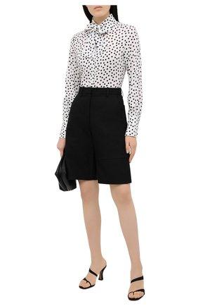 Женская блузка из вискозы PHILOSOPHY DI LORENZO SERAFINI черно-белого цвета, арт. A0215/734 | Фото 2