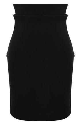 Женская хлопковая юбка PHILOSOPHY DI LORENZO SERAFINI черного цвета, арт. A0112/722 | Фото 1