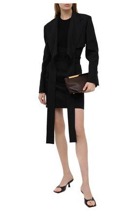 Женская хлопковая юбка PHILOSOPHY DI LORENZO SERAFINI черного цвета, арт. A0112/722 | Фото 2