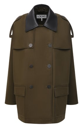 Женская хлопковая куртка LOEWE хаки цвета, арт. S359338XAT | Фото 1