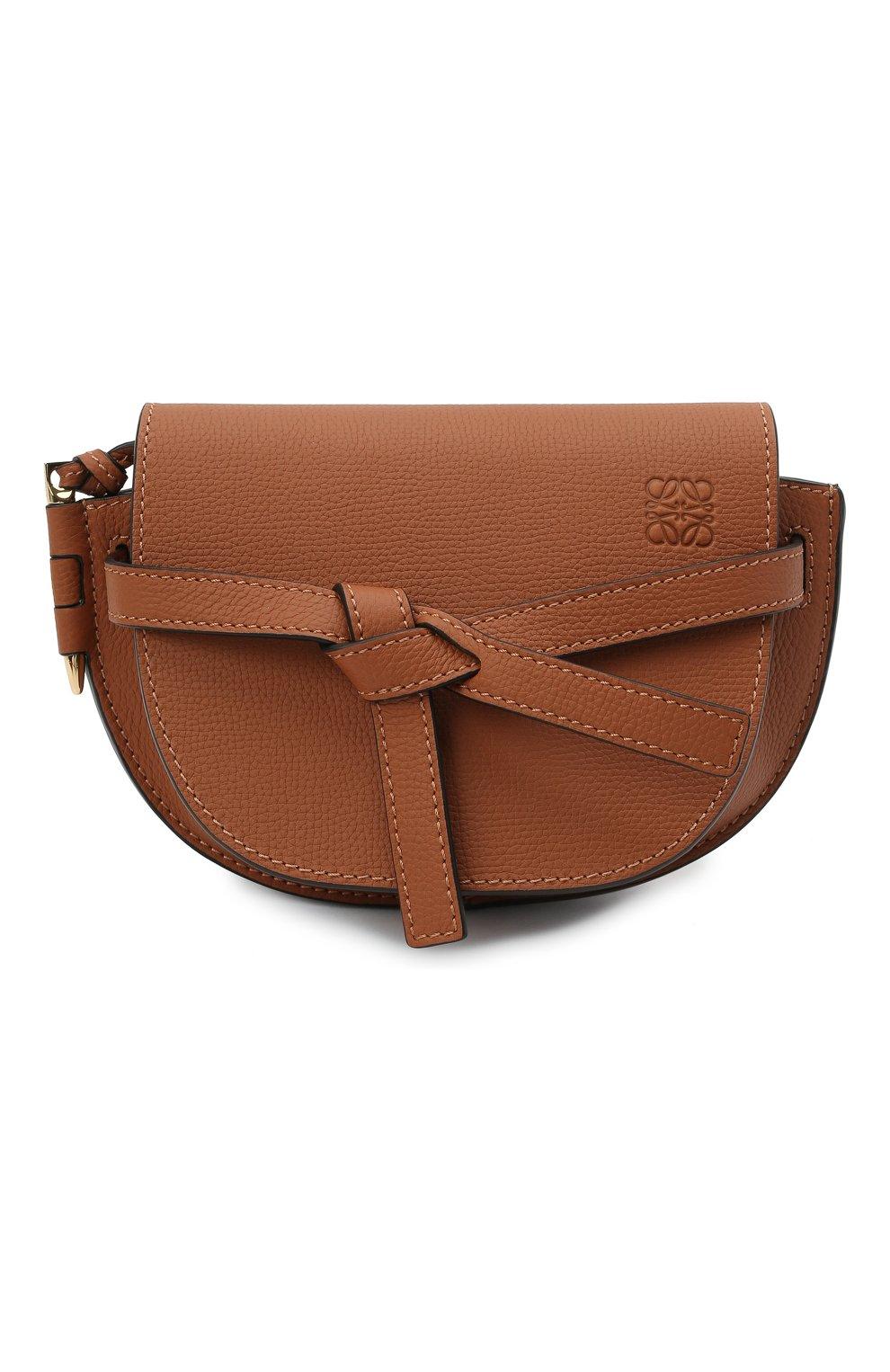 Женская сумка gate mini LOEWE коричневого цвета, арт. A650N46X02 | Фото 1