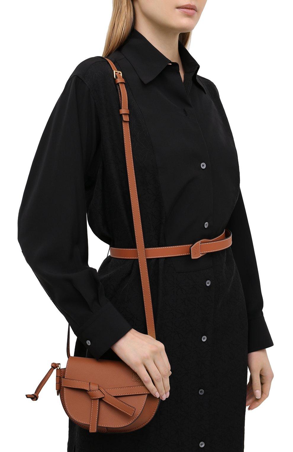 Женская сумка gate mini LOEWE коричневого цвета, арт. A650N46X02 | Фото 2
