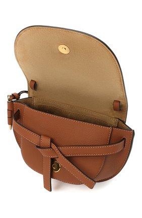 Женская сумка gate mini LOEWE коричневого цвета, арт. A650N46X02 | Фото 4
