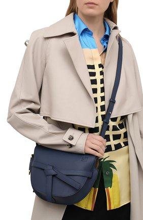 Женская сумка gate small LOEWE синего цвета, арт. A650T20X28 | Фото 2