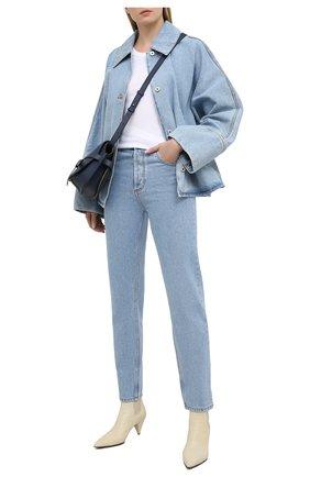 Женские джинсы LOEWE голубого цвета, арт. S359331XCN | Фото 2
