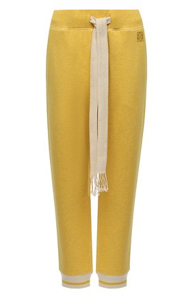 Женские хлопковые джоггеры LOEWE желтого цвета, арт. S359331XCU   Фото 1