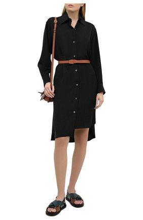 Женское шелковое платье LOEWE черного цвета, арт. S359335XEY | Фото 2