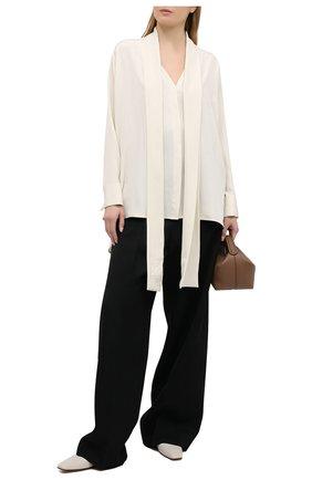 Женская шелковая блузка LOEWE кремвого цвета, арт. S359337XCR | Фото 2