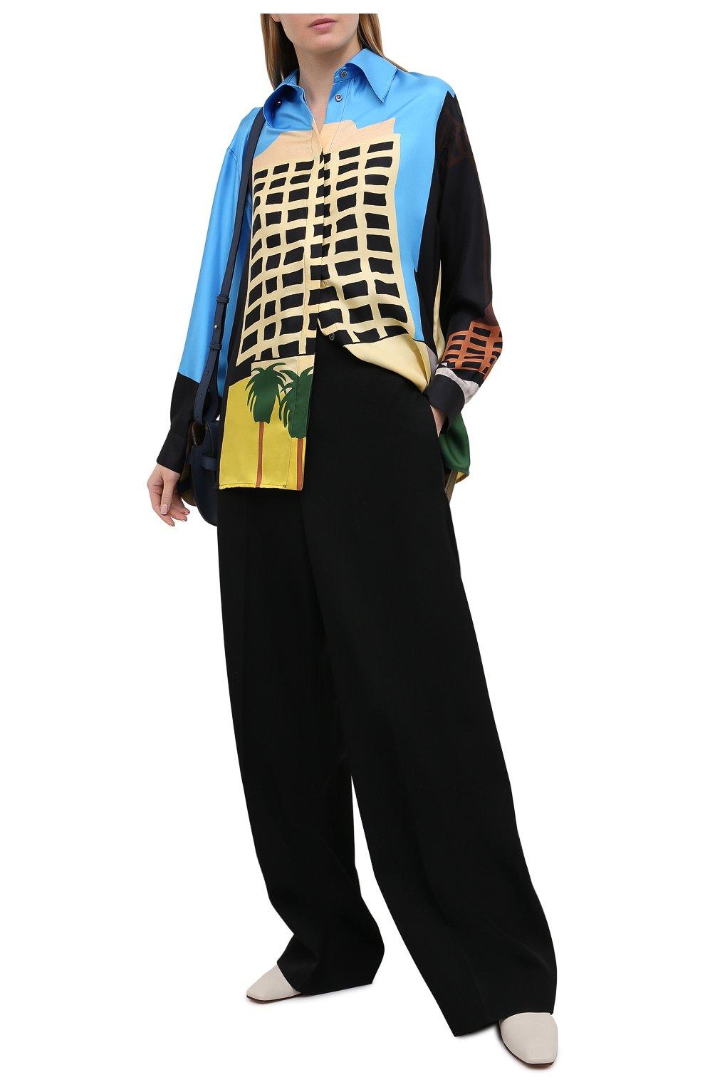 Женская шелковая рубашка LOEWE разноцветного цвета, арт. S897Y06X01 | Фото 2
