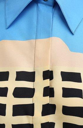 Женская шелковая рубашка LOEWE разноцветного цвета, арт. S897Y06X01 | Фото 5