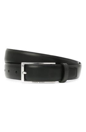 Мужской кожаный ремень BOSS черного цвета, арт. 50440771 | Фото 1
