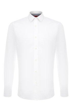 Мужская хлопковая сорочка HUGO белого цвета, арт. 50444007 | Фото 1