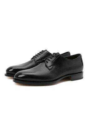 Мужские кожаные дерби SANTONI черного цвета, арт. MCC013974PC4NFRKN01 | Фото 1