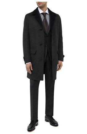 Мужские кожаные дерби SANTONI черного цвета, арт. MCC013974PC4NFRKN01 | Фото 2